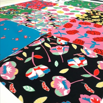 Patterns printed on fabric