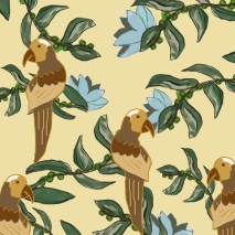 jungle bird fondo beige